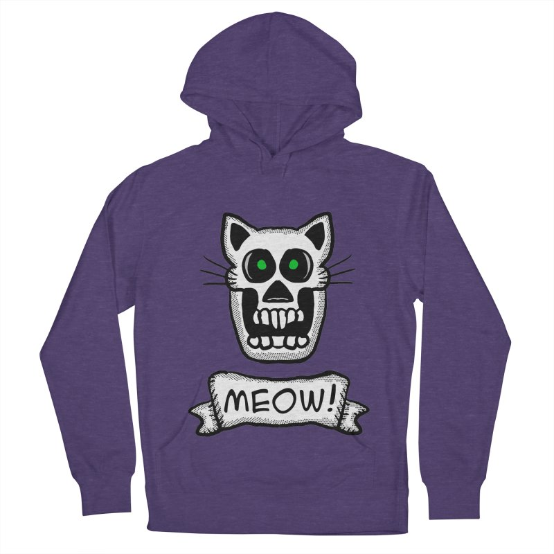 Cat Skull Men's Pullover Hoody by ericallen's Artist Shop