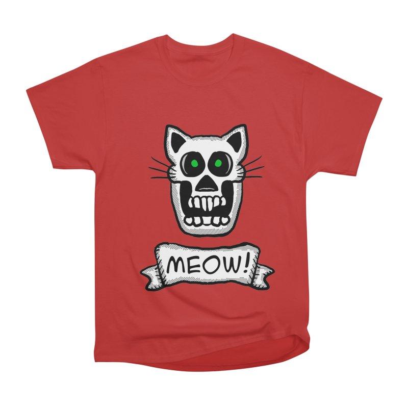 Cat Skull Men's Classic T-Shirt by ericallen's Artist Shop