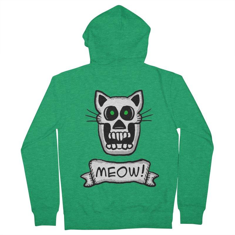 Cat Skull Men's Zip-Up Hoody by ericallen's Artist Shop