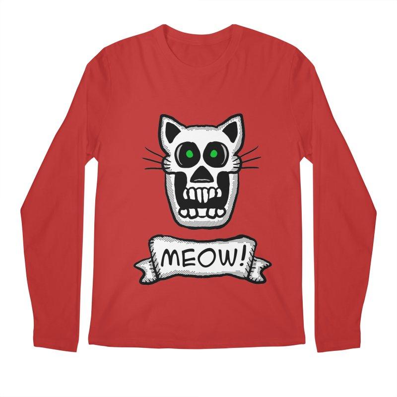Cat Skull Men's Longsleeve T-Shirt by ericallen's Artist Shop