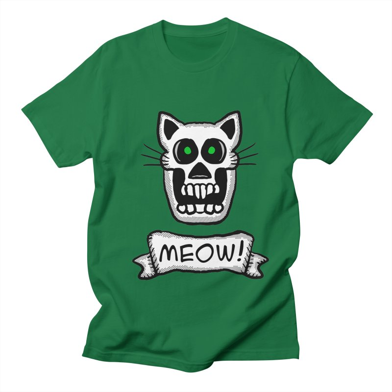 Cat Skull Women's Unisex T-Shirt by ericallen's Artist Shop