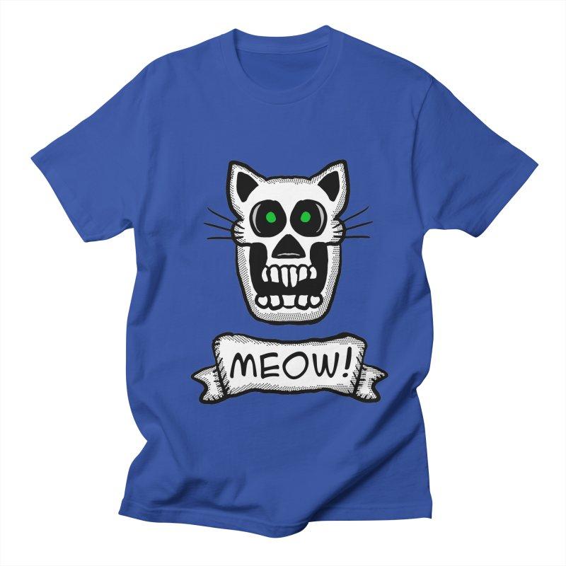 Cat Skull Men's T-shirt by ericallen's Artist Shop