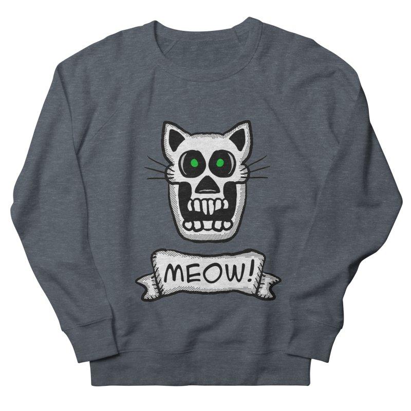 Cat Skull Men's Sweatshirt by ericallen's Artist Shop