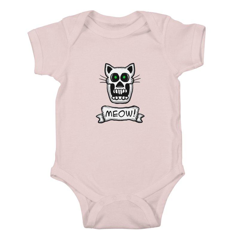 Cat Skull Kids Baby Bodysuit by ericallen's Artist Shop