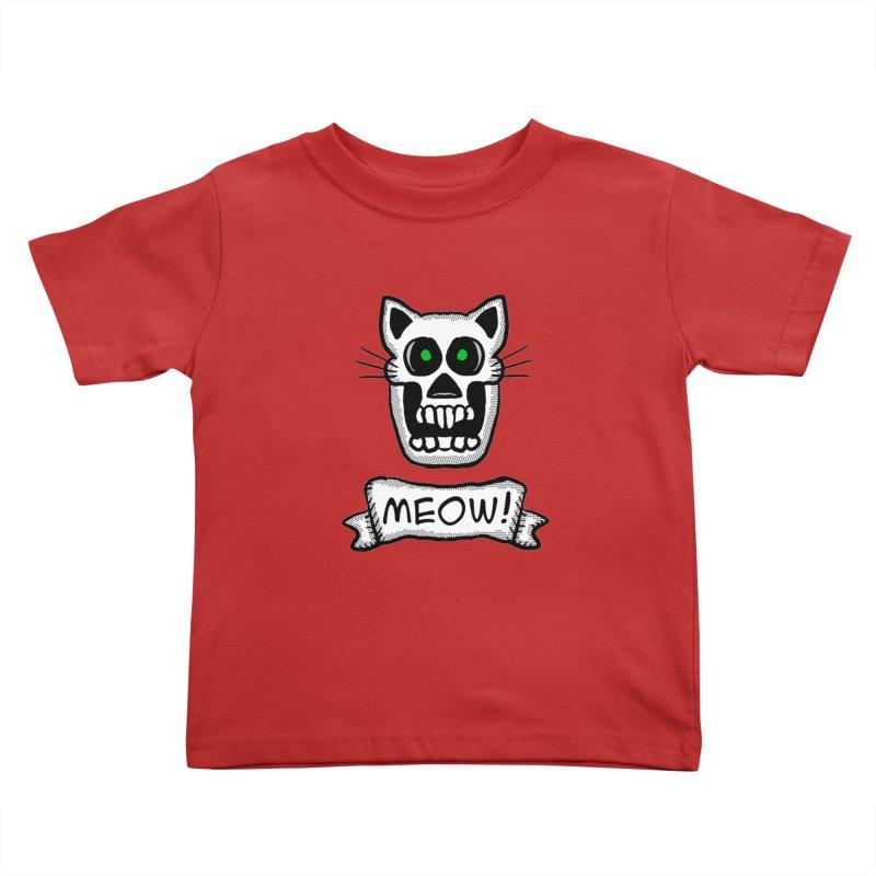 Cat Skull Kids Toddler T-Shirt by ericallen's Artist Shop