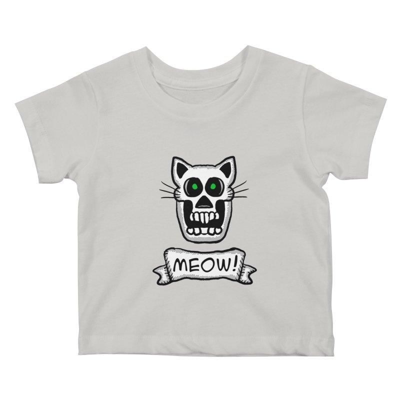 Cat Skull Kids Baby T-Shirt by ericallen's Artist Shop