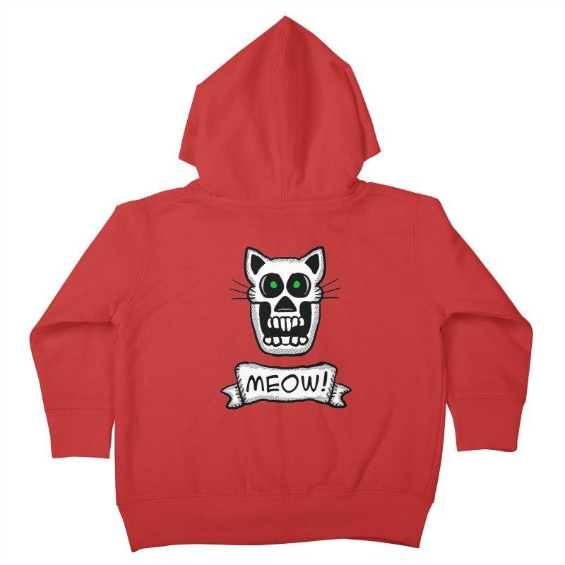 Cat Skull Kids Toddler Zip-Up Hoody by ericallen's Artist Shop