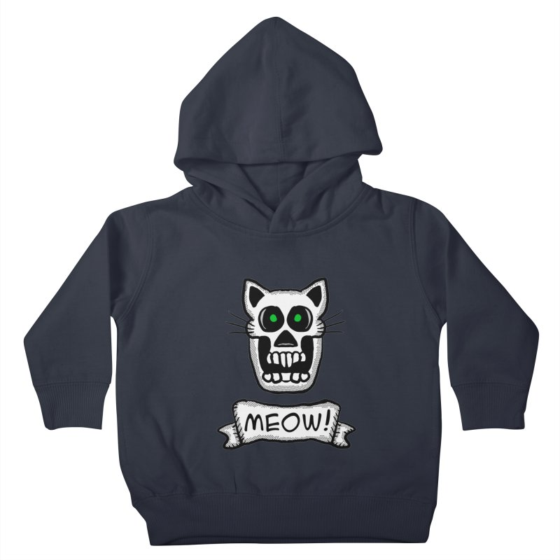 Cat Skull Kids Toddler Pullover Hoody by ericallen's Artist Shop