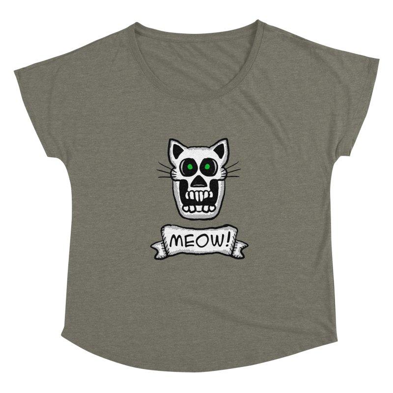 Cat Skull Women's Dolman by ericallen's Artist Shop