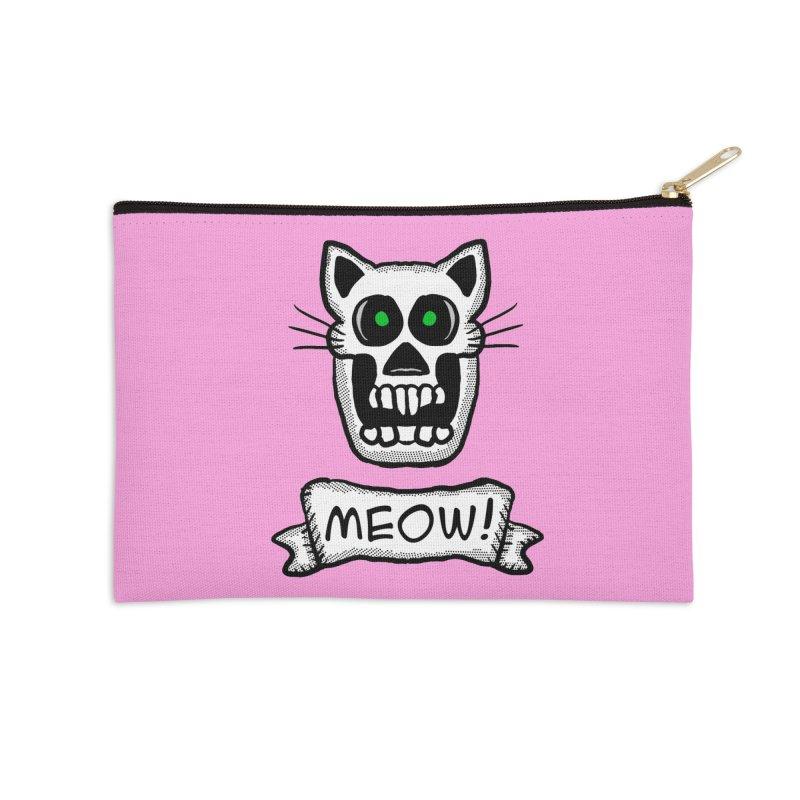 Cat Skull Accessories Zip Pouch by ericallen's Artist Shop