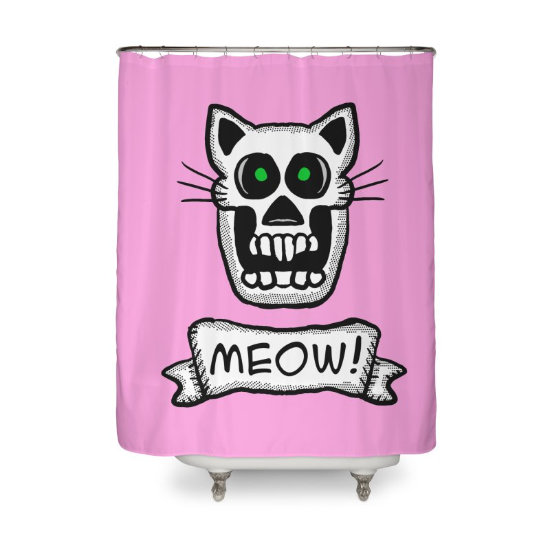 Cat Skull Home Shower Curtain by ericallen's Artist Shop
