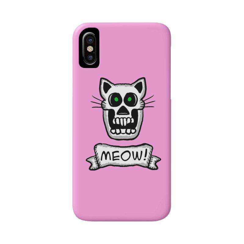 Cat Skull Accessories Phone Case by ericallen's Artist Shop