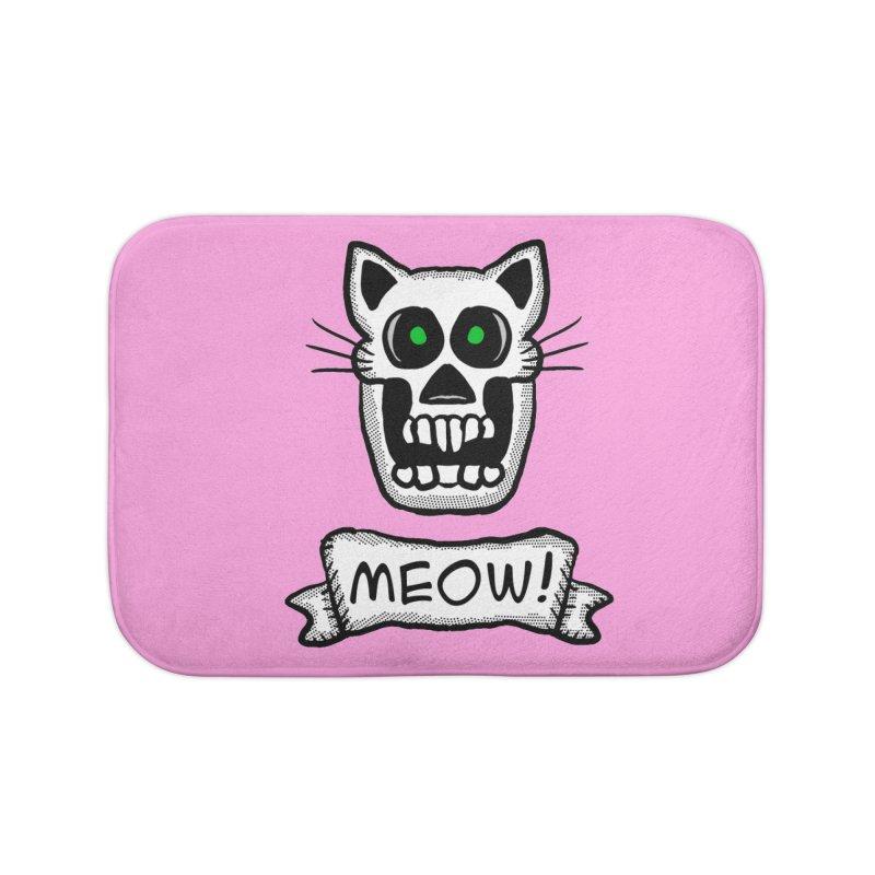 Cat Skull Home Bath Mat by ericallen's Artist Shop