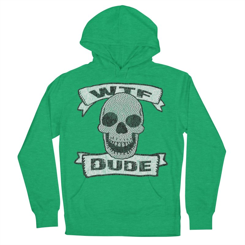 Vintage WTF Dude Skull Men's Pullover Hoody by ericallen's Artist Shop