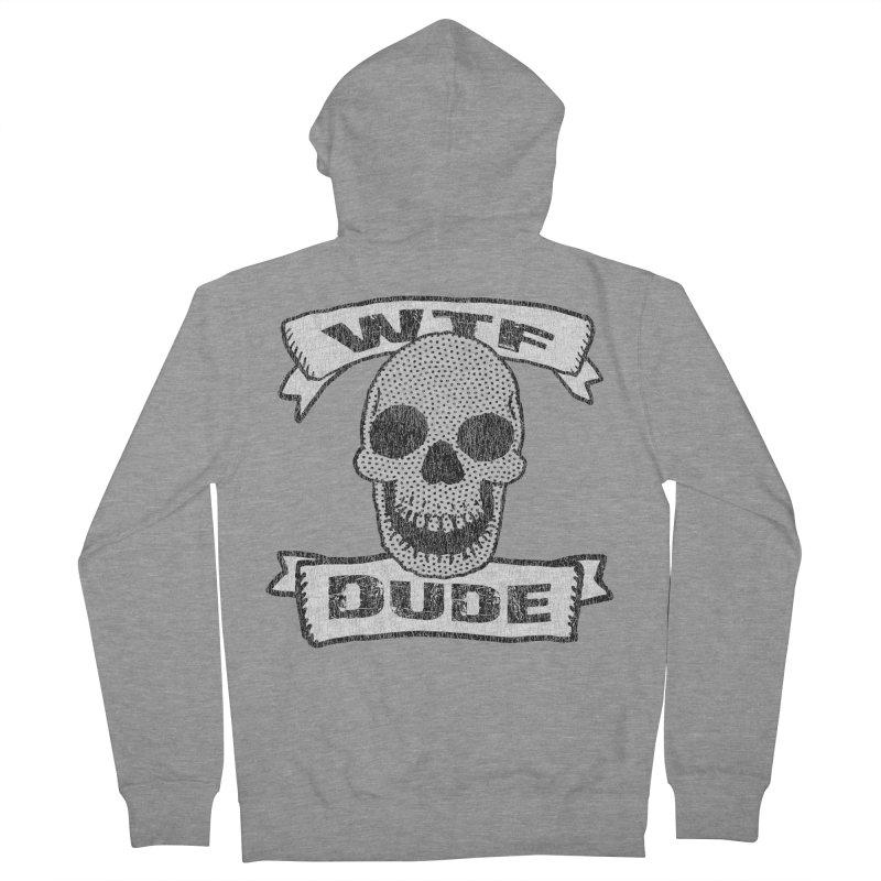 Vintage WTF Dude Skull Men's Zip-Up Hoody by ericallen's Artist Shop