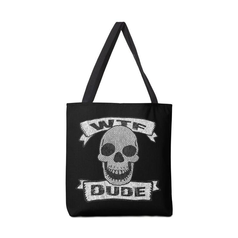 Vintage WTF Dude Skull Accessories Bag by ericallen's Artist Shop