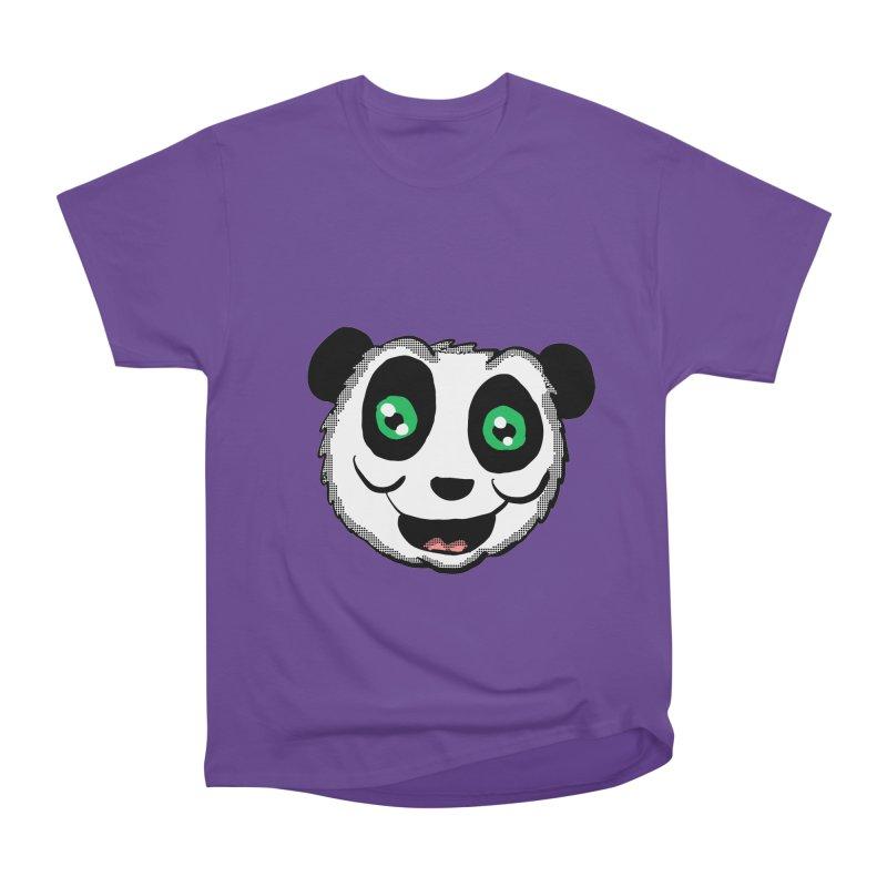 Cartoon Panda head in Women's Classic Unisex T-Shirt Purple by ericallen's Artist Shop