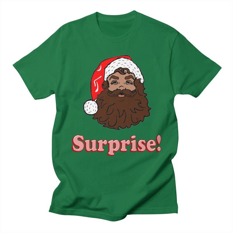Surprise Santa in Men's T-Shirt Kelly Green by ericallen's Artist Shop