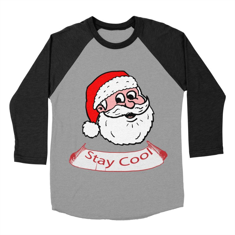 Stay Cool Santa head Women's Baseball Triblend T-Shirt by ericallen's Artist Shop