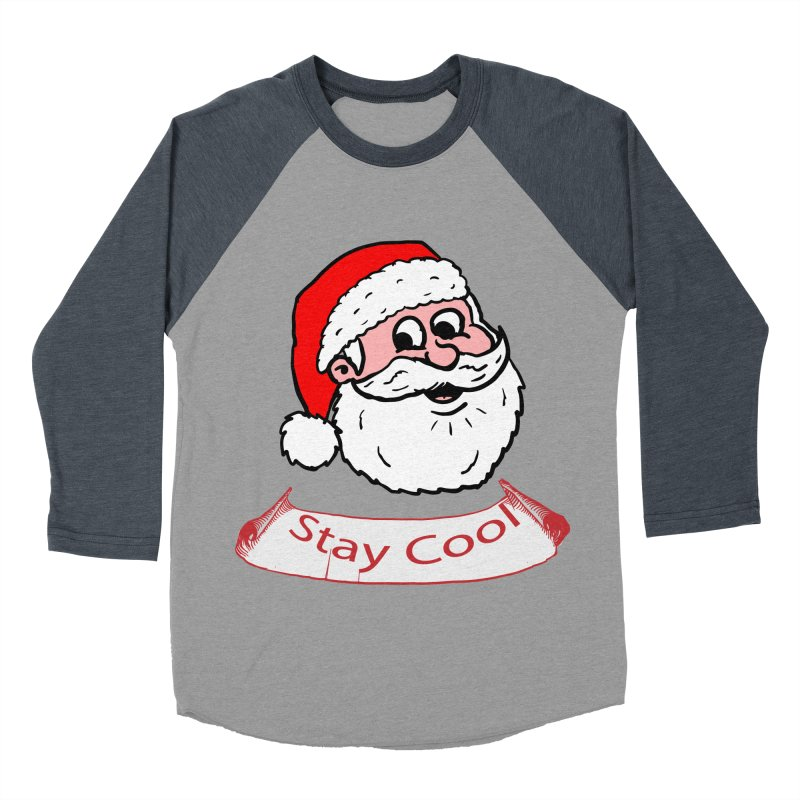 Stay Cool Santa head Men's Baseball Triblend T-Shirt by ericallen's Artist Shop