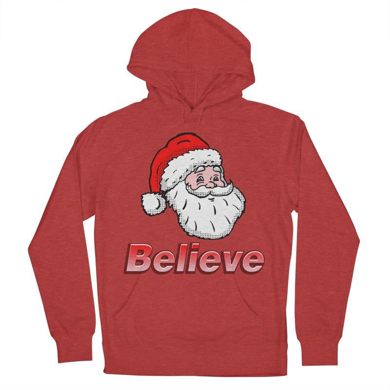 Believe Santa Women's Pullover Hoody by ericallen's Artist Shop