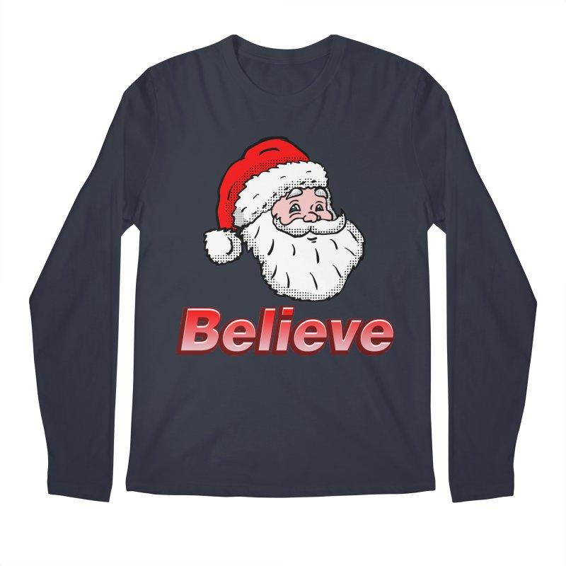 Believe Santa Men's Longsleeve T-Shirt by ericallen's Artist Shop