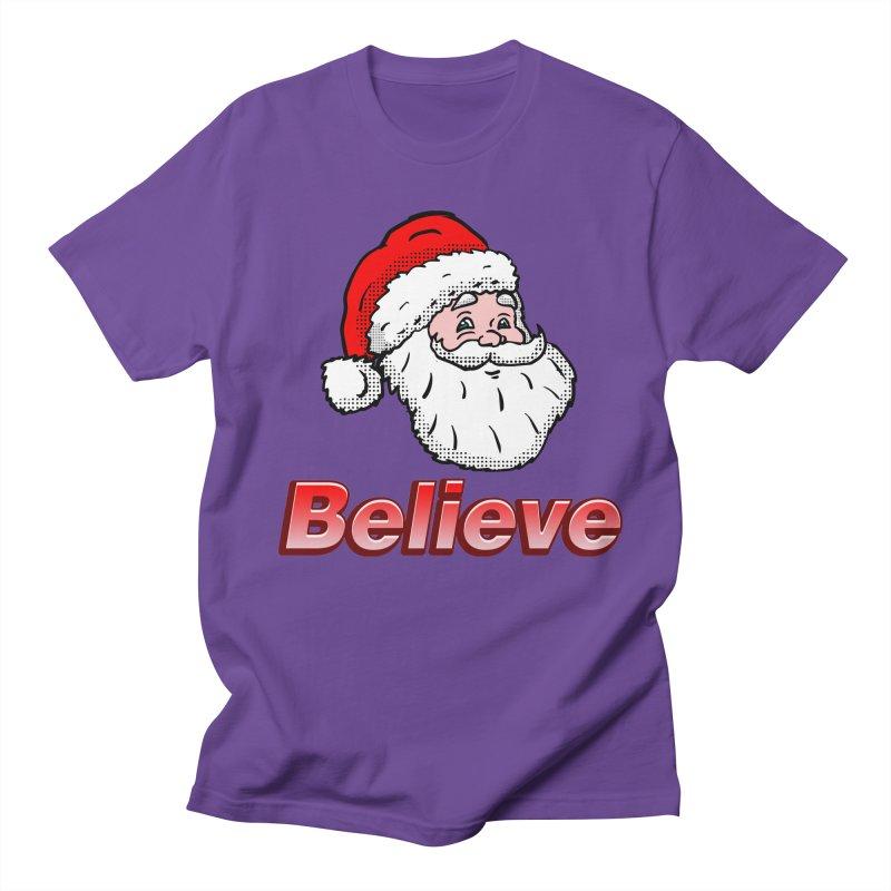 Believe Santa Women's Unisex T-Shirt by ericallen's Artist Shop