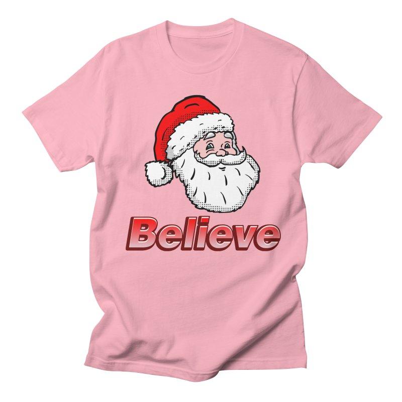 Believe Santa Men's T-Shirt by ericallen's Artist Shop