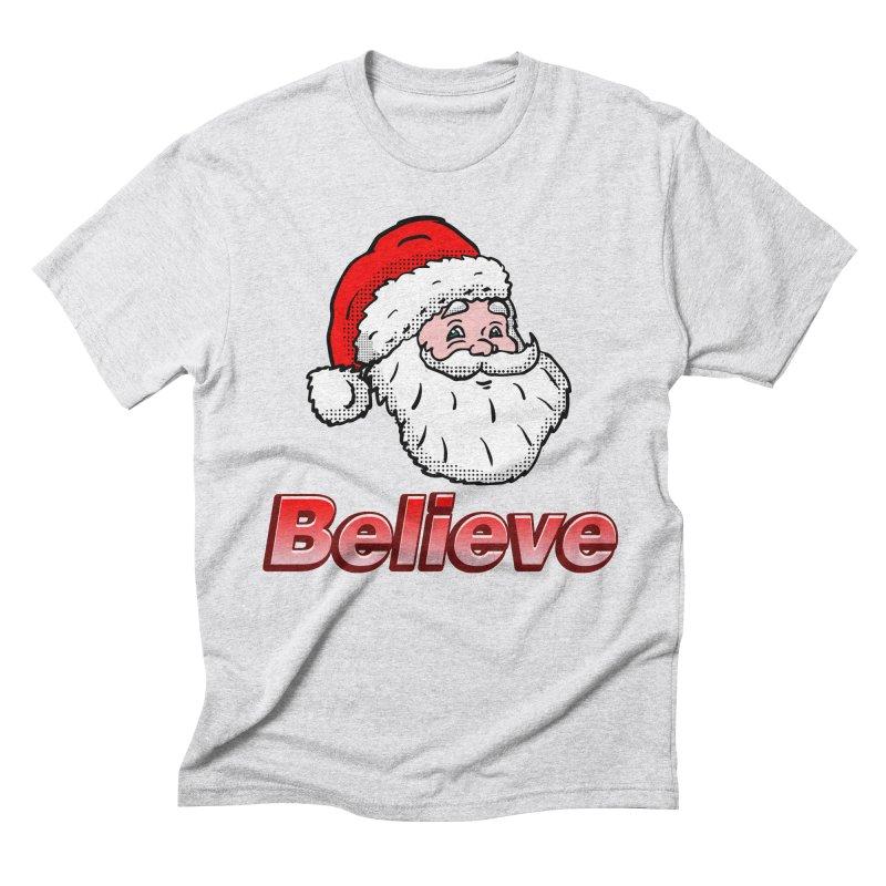 Believe Santa Men's Triblend T-Shirt by ericallen's Artist Shop