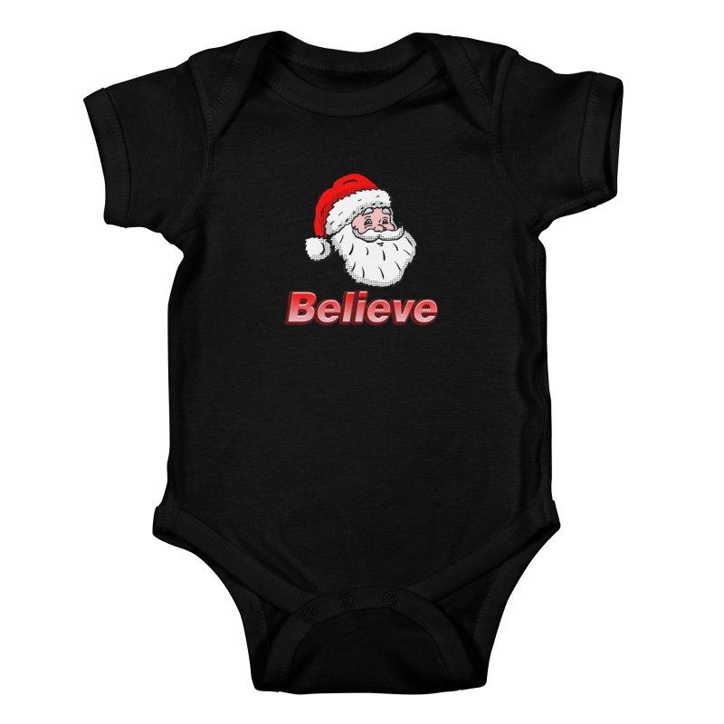 Believe Santa Kids Baby Bodysuit by ericallen's Artist Shop
