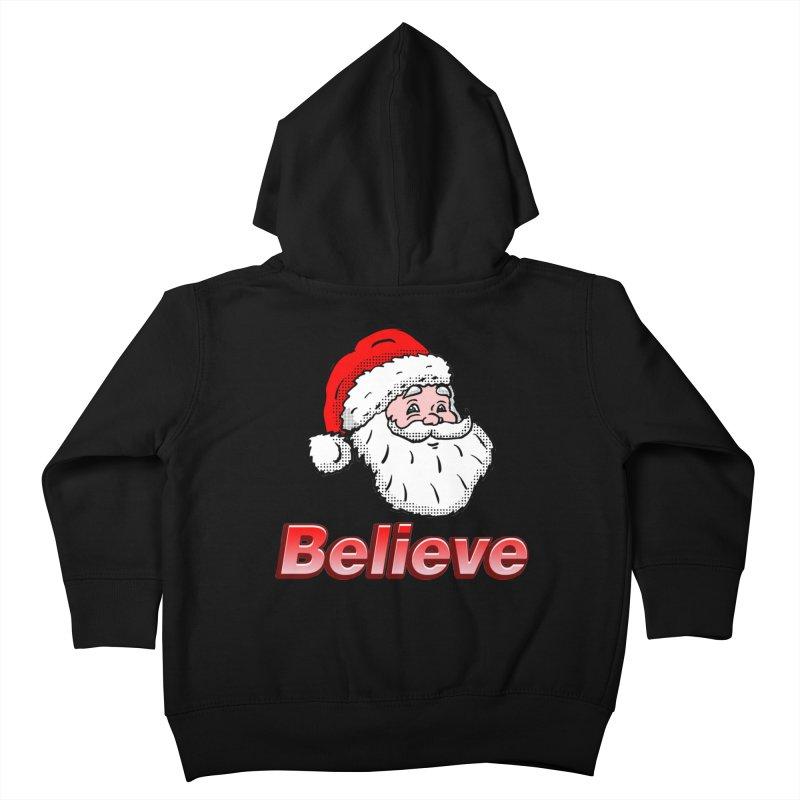 Believe Santa Kids Toddler Zip-Up Hoody by ericallen's Artist Shop