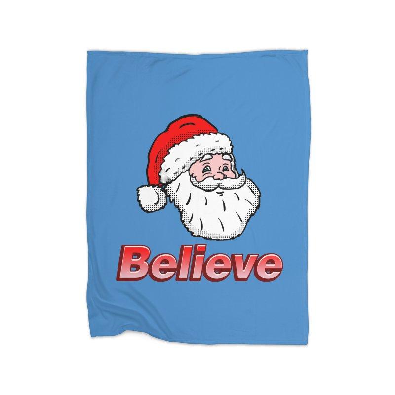 Believe Santa Home Blanket by ericallen's Artist Shop