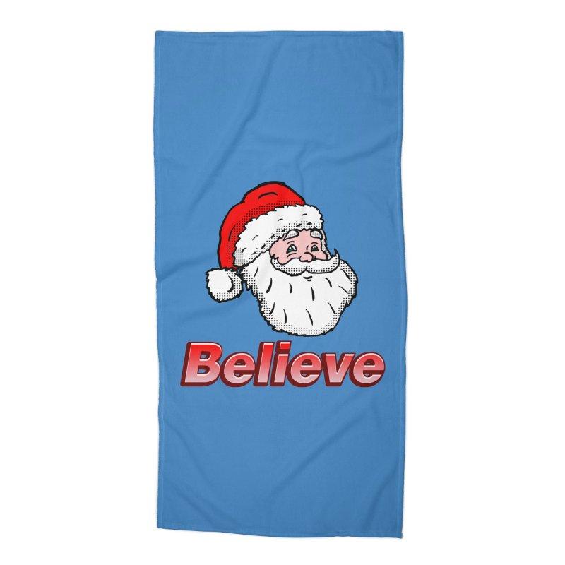 Believe Santa Accessories Beach Towel by ericallen's Artist Shop