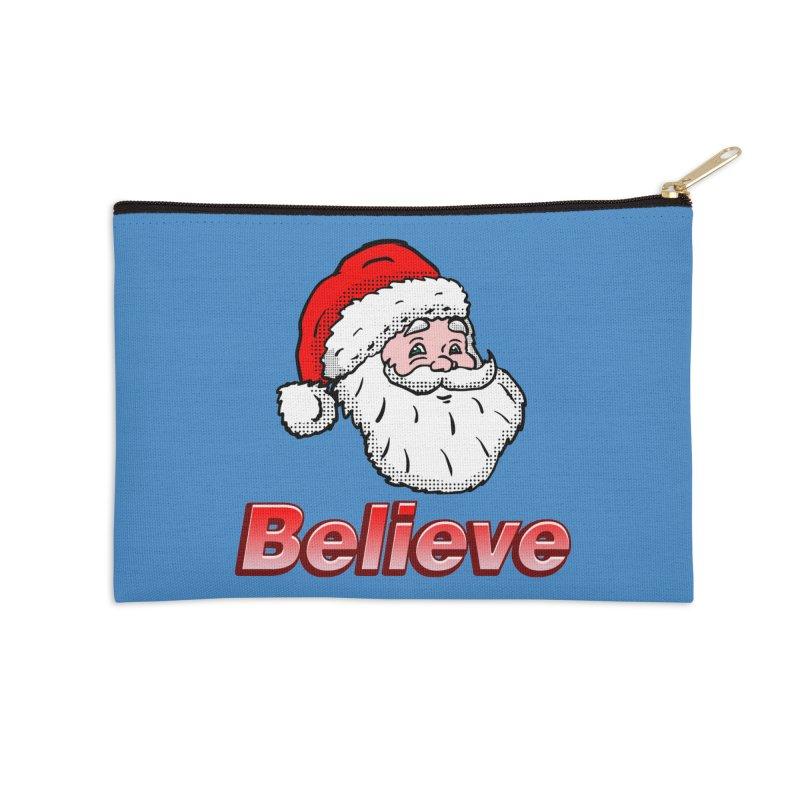Believe Santa Accessories Zip Pouch by ericallen's Artist Shop