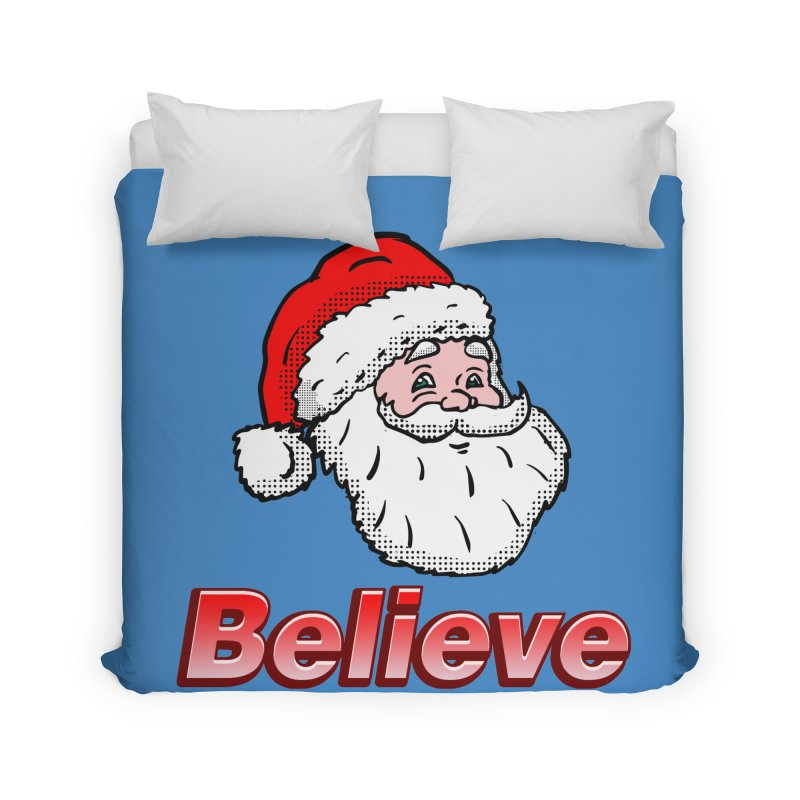 Believe Santa Home Duvet by ericallen's Artist Shop