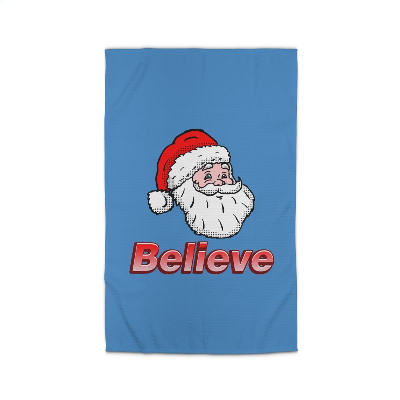 Believe Santa Home Rug by ericallen's Artist Shop