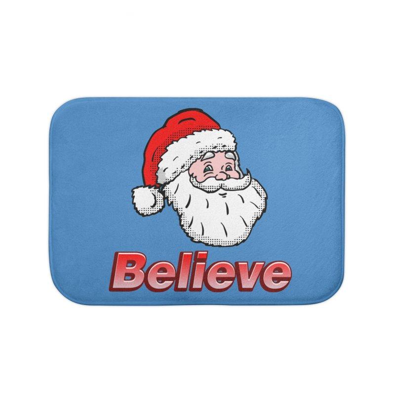 Believe Santa Home Bath Mat by ericallen's Artist Shop