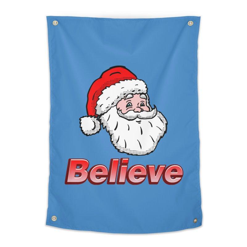 Believe Santa Home Tapestry by ericallen's Artist Shop