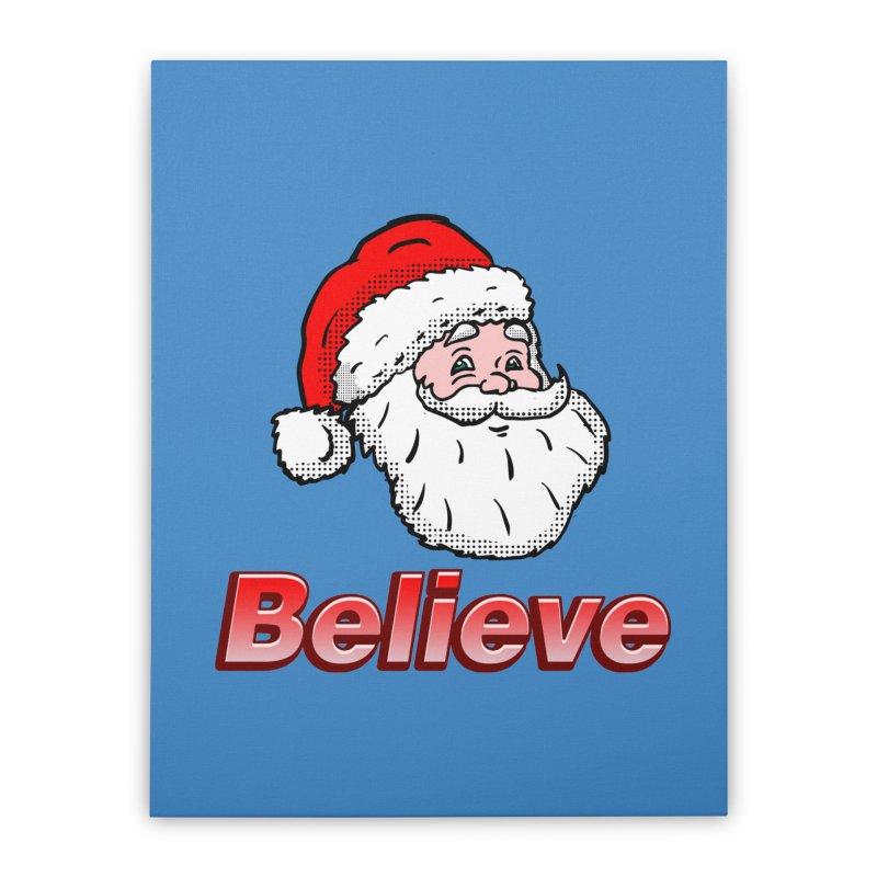 Believe Santa Home Stretched Canvas by ericallen's Artist Shop