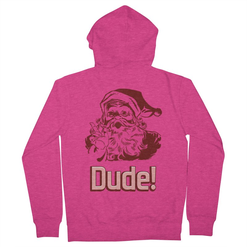 Dude Santa Women's Zip-Up Hoody by ericallen's Artist Shop