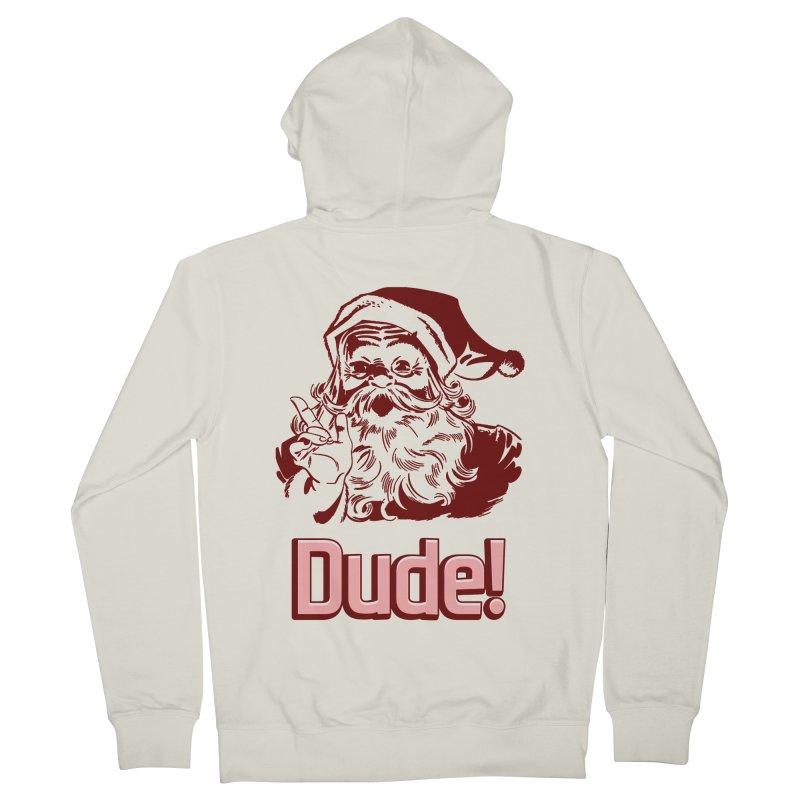 Dude Santa Men's Zip-Up Hoody by ericallen's Artist Shop