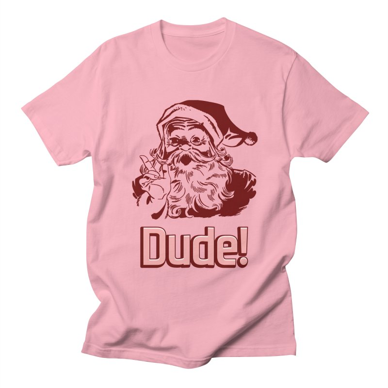 Dude Santa Men's T-Shirt by ericallen's Artist Shop