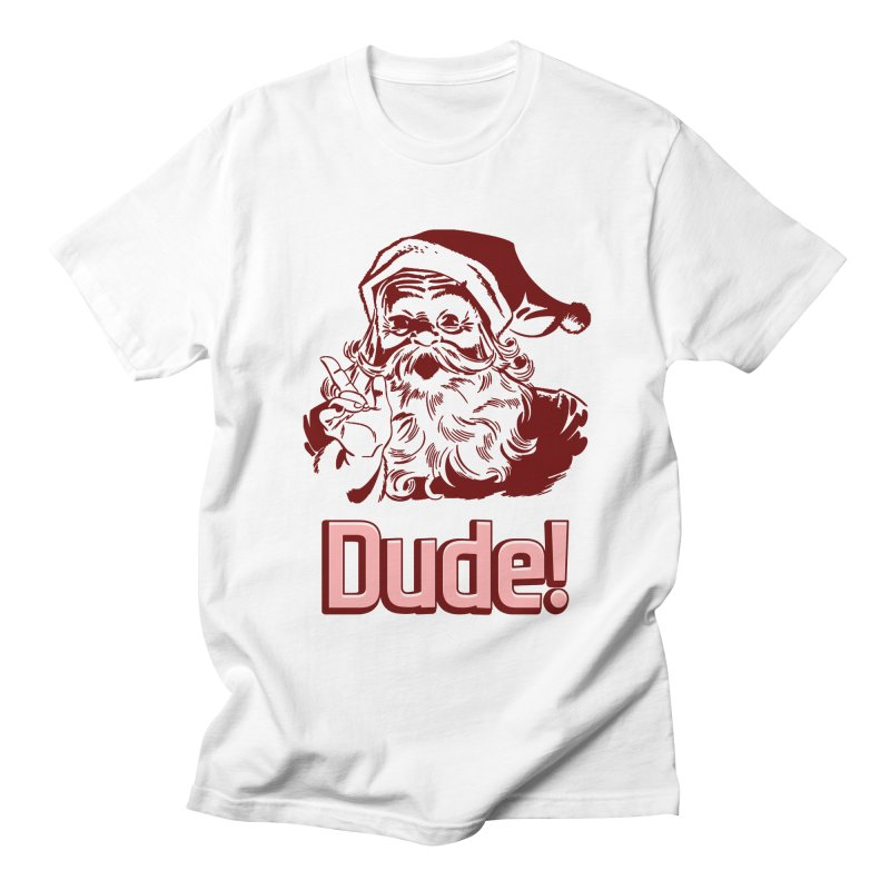 Dude Santa in Men's T-Shirt White by ericallen's Artist Shop