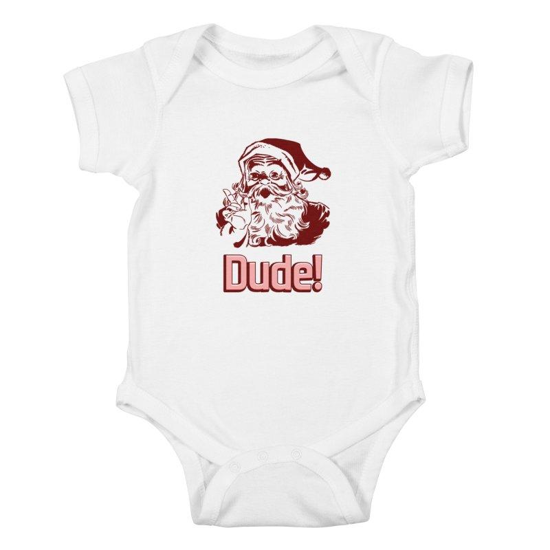 Dude Santa Kids Baby Bodysuit by ericallen's Artist Shop