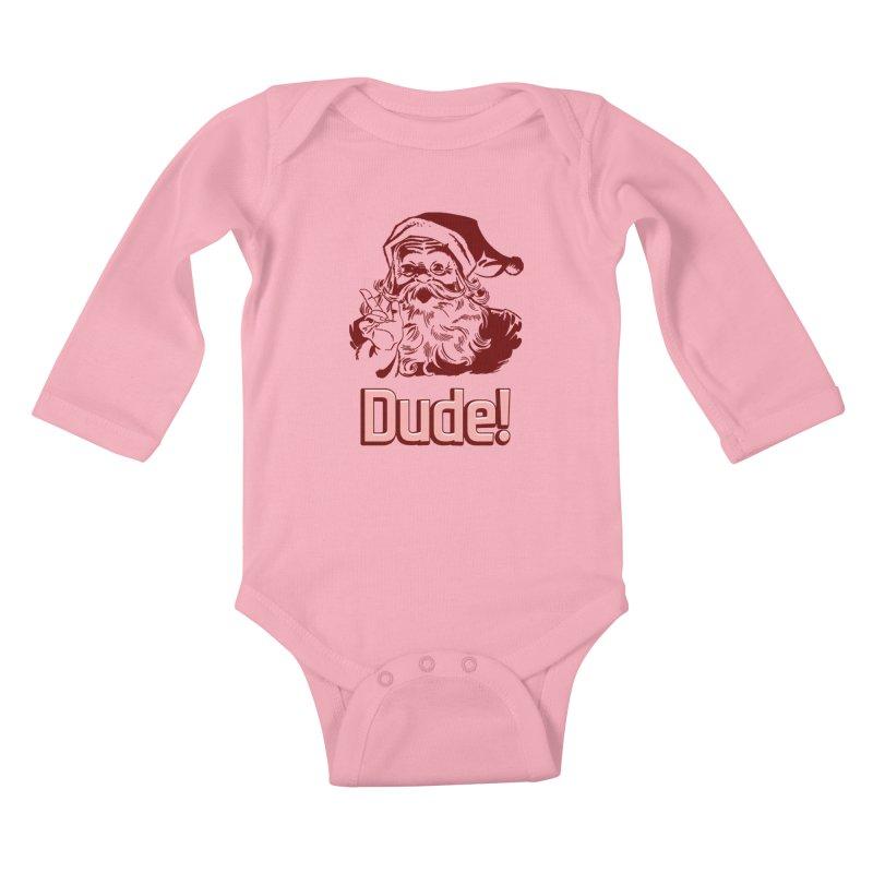 Dude Santa Kids Baby Longsleeve Bodysuit by ericallen's Artist Shop