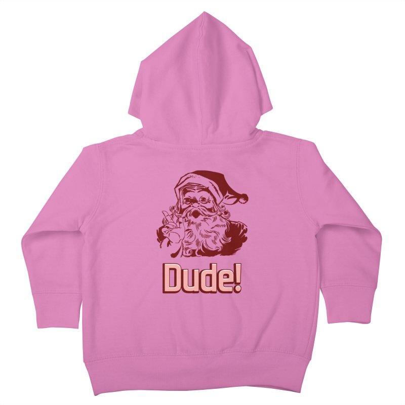 Dude Santa Kids Toddler Zip-Up Hoody by ericallen's Artist Shop
