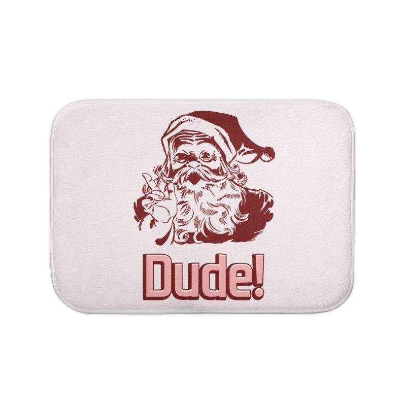Dude Santa Home Bath Mat by ericallen's Artist Shop