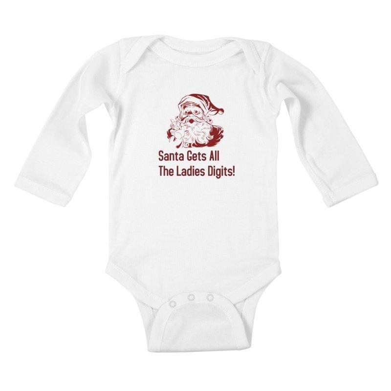 Santa Gets All the Ladies Digits Kids Baby Longsleeve Bodysuit by ericallen's Artist Shop