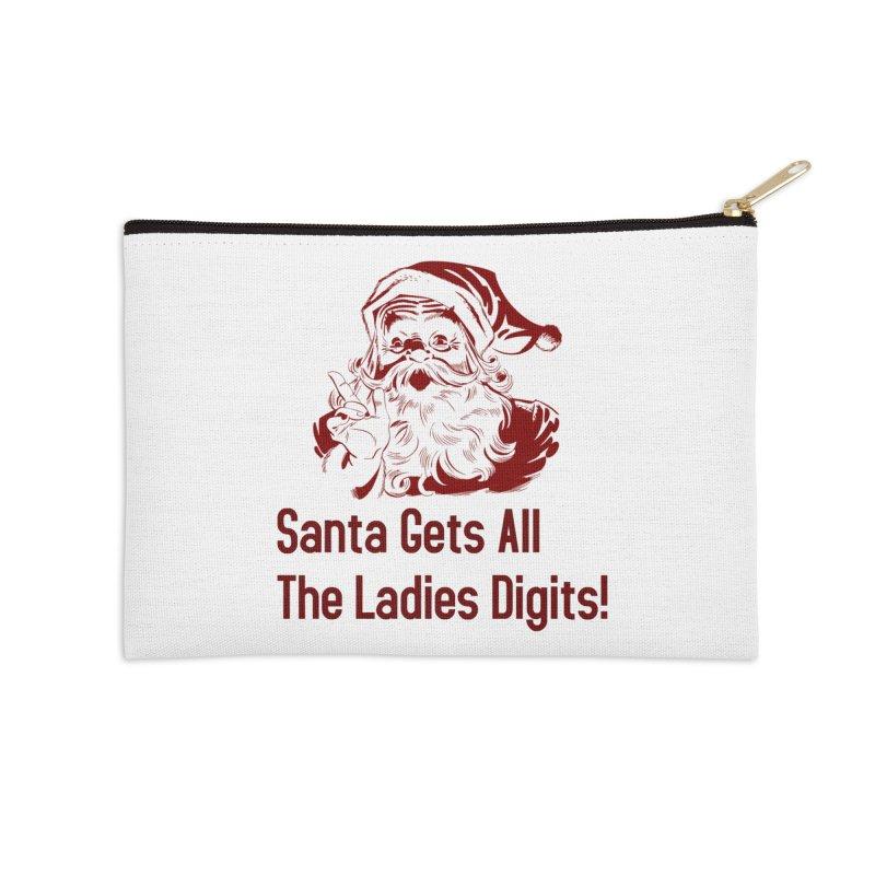Santa Gets All the Ladies Digits Accessories Zip Pouch by ericallen's Artist Shop