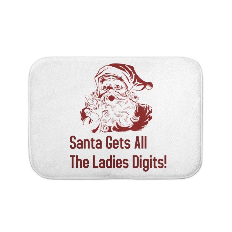 Santa Gets All the Ladies Digits Home Bath Mat by ericallen's Artist Shop